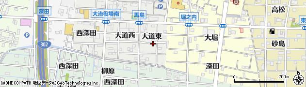 愛知県大治町(海部郡)馬島(大道東)周辺の地図