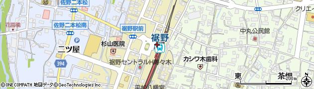静岡県裾野市周辺の地図