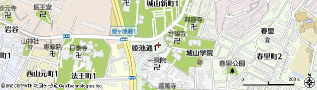 愛知県名古屋市千種区姫池通周辺の地図