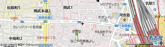 愛知県名古屋市中村区則武周辺の地図