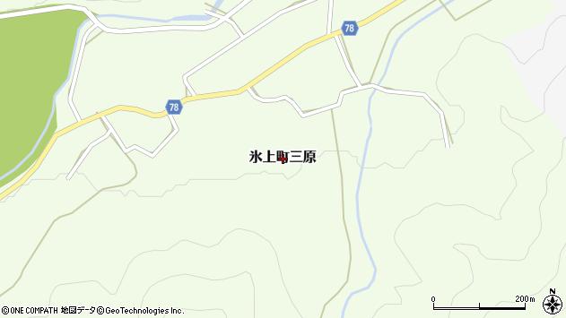 〒669-3622 兵庫県丹波市氷上町三原の地図