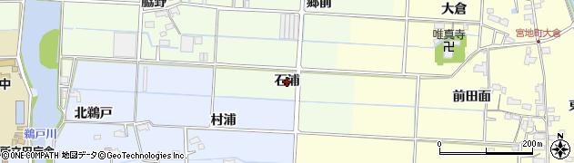 愛知県愛西市四会町(石浦)周辺の地図