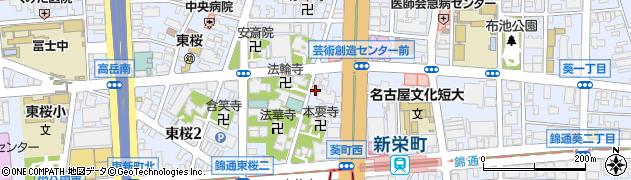 ぶどう亭周辺の地図