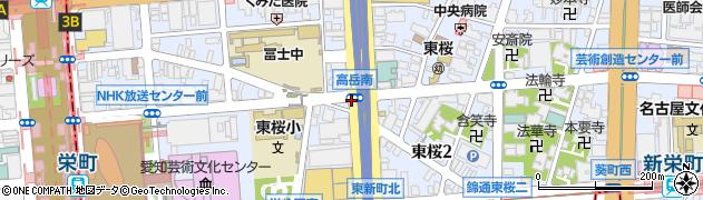 愛知県名古屋市東区東桜周辺の地図