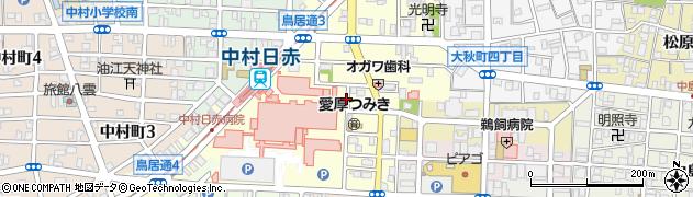 愛知県名古屋市中村区道下町周辺の地図
