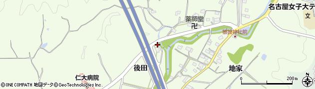 愛知県豊田市猿投町(後田)周辺の地図
