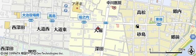 愛知県大治町(海部郡)堀之内(大堀)周辺の地図