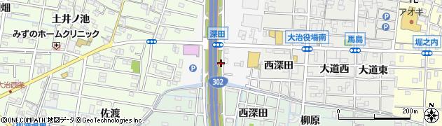 愛知県大治町(海部郡)中島(深田)周辺の地図