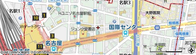 愛知県名古屋市中村区名駅3丁目23-16周辺の地図