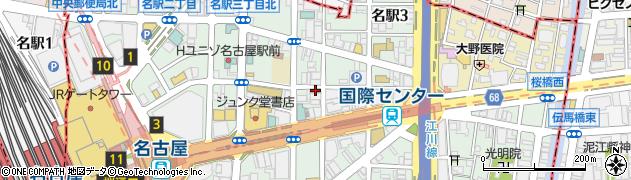 ぎんのうろこ名古屋周辺の地図