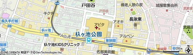 ロッテリアアイスクリームショップ周辺の地図