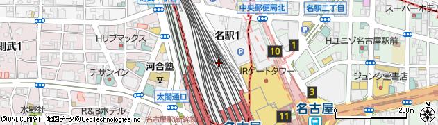 愛知県名古屋市西区名駅周辺の地図