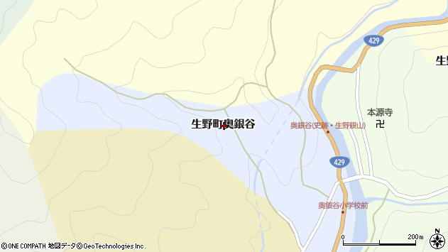 〒679-3322 兵庫県朝来市生野町奥銀谷の地図