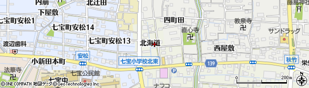 愛知県あま市七宝町桂(北海道)周辺の地図