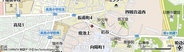 愛知県名古屋市千種区田代町(岩谷)周辺の地図