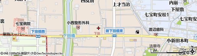 愛知県あま市七宝町下田折場周辺の地図