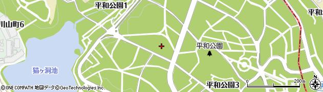 愛知県名古屋市千種区平和公園周辺の地図