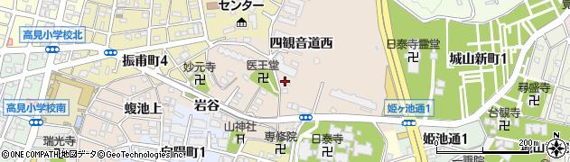 愛知県名古屋市千種区田代町(四観音道西)周辺の地図
