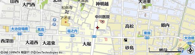 愛知県大治町(海部郡)堀之内(苗代)周辺の地図