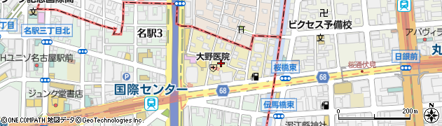 愛知県名古屋市中村区那古野周辺の地図