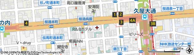 愛知県名古屋市中区錦3丁目3-8周辺の地図