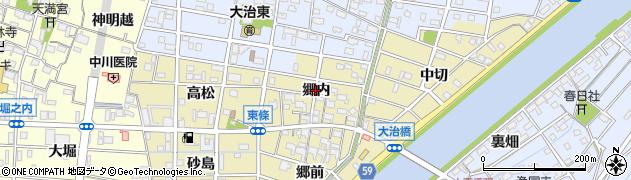 愛知県大治町(海部郡)東條(郷内)周辺の地図
