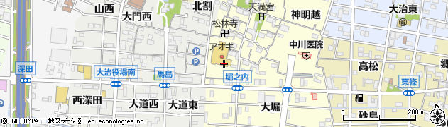 愛知県大治町(海部郡)堀之内(元苗代)周辺の地図