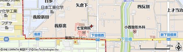 愛知県あま市七宝町下田五之坪周辺の地図