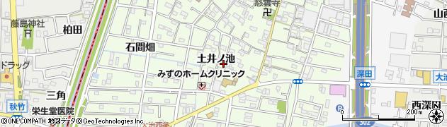 愛知県大治町(海部郡)西條(土井ノ池)周辺の地図