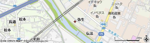 静岡県富士市弥生周辺の地図