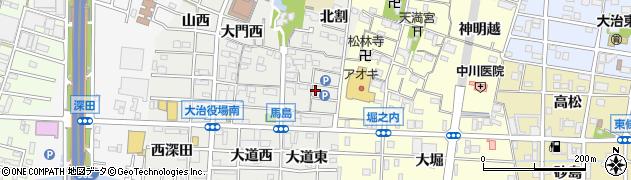 愛知県大治町(海部郡)馬島(大門東)周辺の地図
