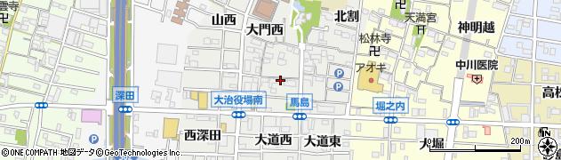 愛知県大治町(海部郡)馬島周辺の地図