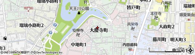 愛知県津島市大慶寺町周辺の地図