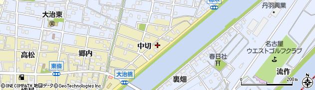 愛知県大治町(海部郡)東條(中切)周辺の地図