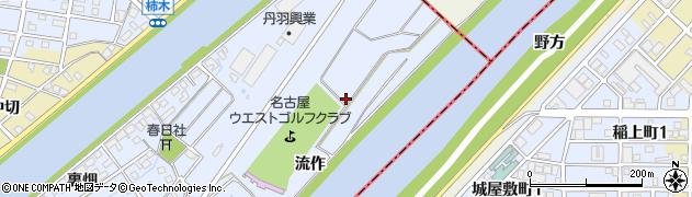 愛知県大治町(海部郡)八ツ屋(流作)周辺の地図