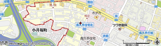 愛知県長久手市熊田周辺の地図