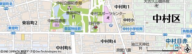 愛知県名古屋市中村区中村町(木下屋敷)周辺の地図