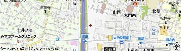 愛知県大治町(海部郡)中島(中田)周辺の地図