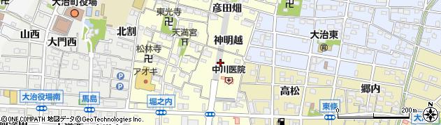 愛知県大治町(海部郡)堀之内(東浦)周辺の地図
