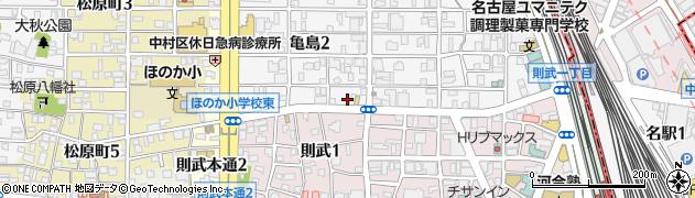 ファンダース名駅店周辺の地図