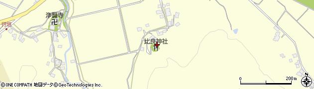 比良神社周辺の地図