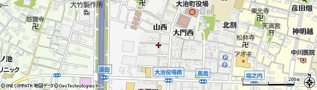 愛知県大治町(海部郡)馬島(山西)周辺の地図