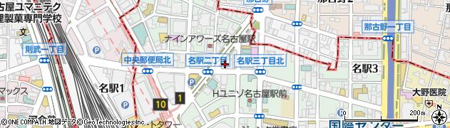 鳥八・名駅店周辺の地図