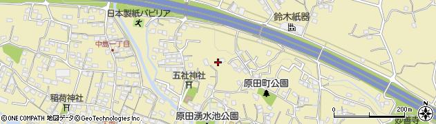 静岡県富士市原田周辺の地図