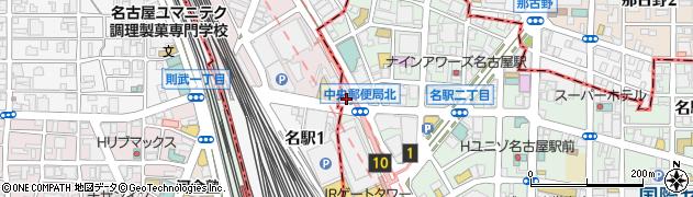 愛知県名古屋市中村区牛島町周辺の地図