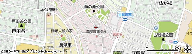 愛知県長久手市城屋敷周辺の地図