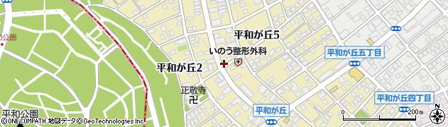 愛知県名古屋市名東区平和が丘周辺の地図