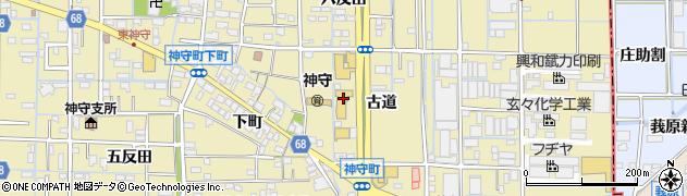 愛知県津島市神守町(古道)周辺の地図