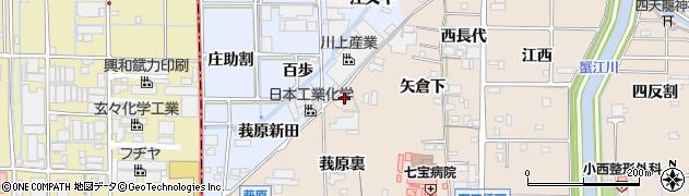 愛知県あま市七宝町下田江向周辺の地図