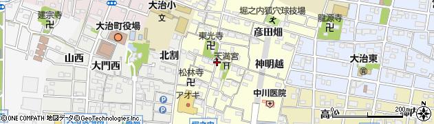 愛知県大治町(海部郡)堀之内(郷中)周辺の地図